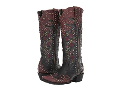 Double D Ranchwear by Old Gringo Round Up Rosie (Black/Sin) Cowboy Boots