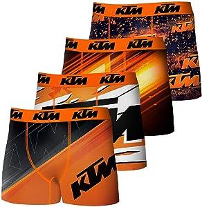 KTMLote de 4 bóxers para hombre, microfibra, multicolor
