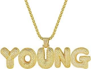 gold bubble letter chain