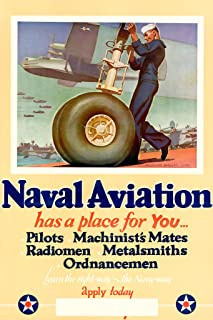 Naval Aviation Has a Place For You - Vintage WW2 Reproduction Poster