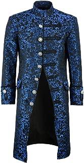 Mens Jacket Velvet Goth Steampunk Victorian Frock Coat Handmade
