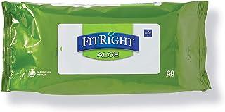 دستمال مرطوب و تمیزکننده شخصی FitRight Aloe ، معطر ، 816 تعداد ، 8 12 12 اینچ دستمال مرطوب بی اختیاری بزرگسالان