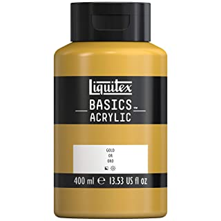 Liquitex Basics Acrylic Paint, 13.5-oz Bottle, Gold, 13 Fl