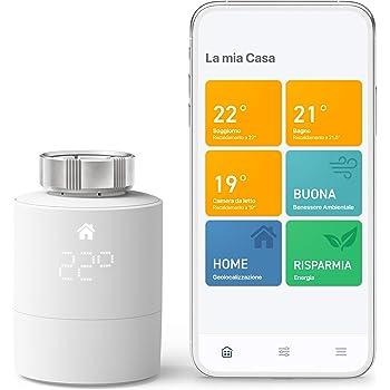 tado° Testa Termostatica Intelligente Kit di Base V3+, Gestione Intelligente del Riscaldamento, Facile Installazione fai da Te, Progettato in Germania