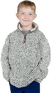 True Grit Children's K-1/4 Zip Frosty Tipped Pile Charcoal M