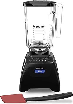 Blendtec Classic 575 Blender with 90 oz Wildside+ Jar (Black)