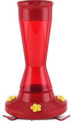 Perky-Pet 410P Pinch Waist Plastic Hummingbird Feeder, 16-Ounce , Red