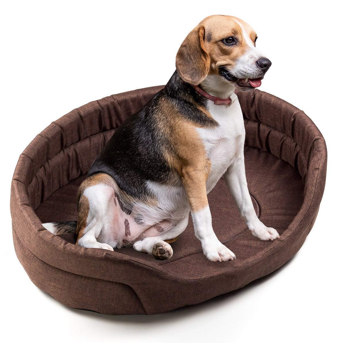Boutique Zoo – Elegante Cama para Perros/marrón, Aspecto de Lino/Cama para Perros para pequeñas/Medianas/Perros Grandes | sofá, Perros – Cojín para Perros | XS, S, M, L, XL, XXL, XXXL: Amazon.es: Productos