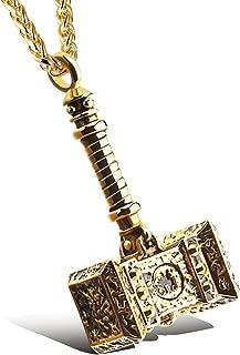 Men's Stainless Steel Large Thors Hammer Vikings Pendant Necklace