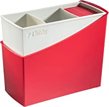 "Hutzler 3329RD Cutlery Drainer, 7.75"" x 4"" x 6.75"", Red"