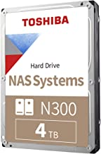 Toshiba N300 4TB NAS 3.5-Inch Internal Hard Drive - CMR...