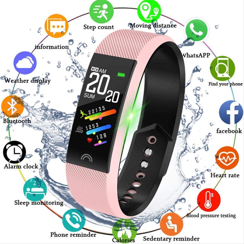 LFDYDSH Frauen Smart Watch Pulsmesser Blautooth 4.0 Fitness Smartwatch Für IOS für Android