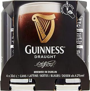 Guinness Birra Draught in Lattina, 4 x 330ml