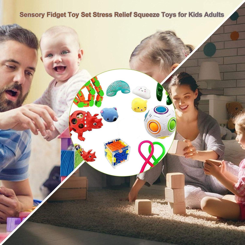 Autismo circulor-123 Juego de Juguetes antiestr/és Bubble Fidget Juego de Juguetes sensoriales Fidget Toys para ni/ños y ansiedad con ansiedad