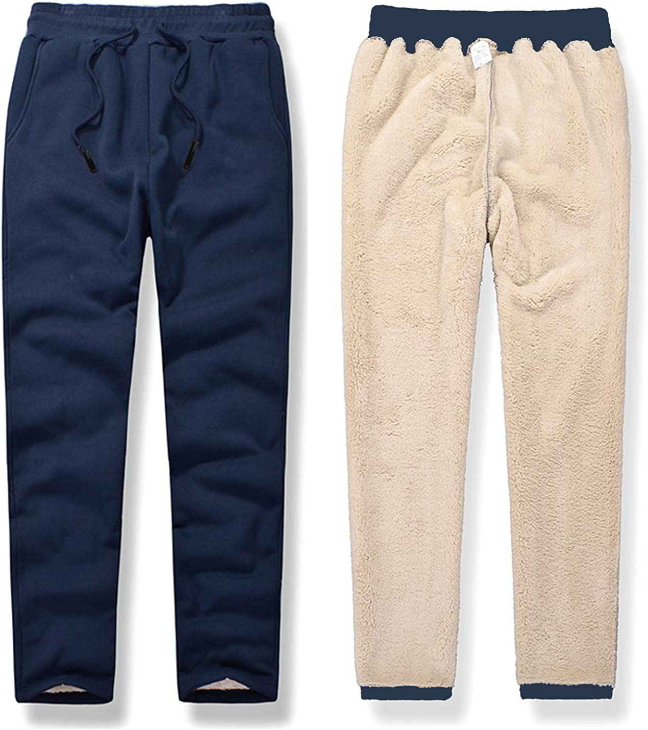 Washington Mall Gihuo Men's Athletic Winter Max 87% OFF Track Sweatpants Lined Sherpa Pants