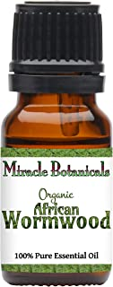 Miracle Botanicals Organic African Wormwood Essential Oil - 100% Pure Artemisia Afra - Therapeutic Grade (10ML)