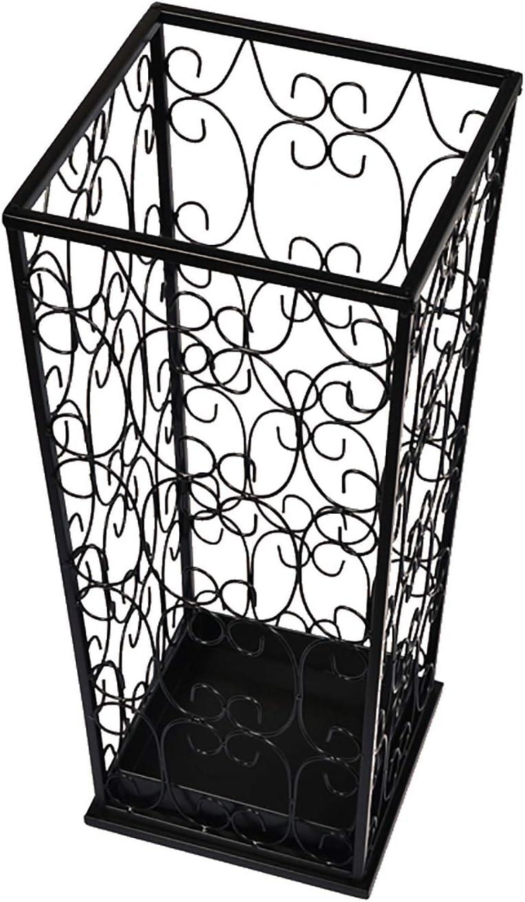 AAQQ Metal Umbrella Max 68% OFF Holder Hollow-Carved Max 90% OFF Square Design