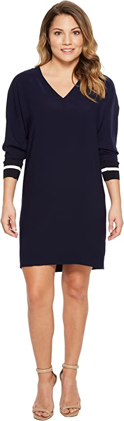 LAUREN Ralph Lauren Petite Crepe Shift Dress