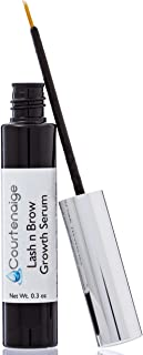 Eyelash Growth Serum by Courtenaige - Grow Longer, Thicker, Darker, Fuller Lashes & Brows - Enhancing Eyelashes and Eyebrows - for Men & Women .30 oz