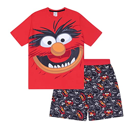 a6e22111e The Muppets Animal Official Gift Mens Loungewear Retro Short Pyjamas Red