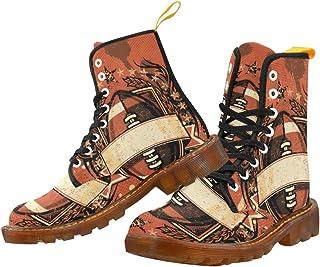 Artsadd Fashion Shoes Baseball Lace Up Boots For Women