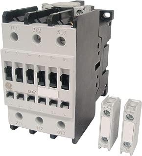 GE 120VAC IEC Magnetic Contactor; No. of Poles 3, Reversing: No, 62 Full Load Amps-Inductive