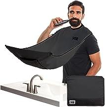 "BEARD KING - The Official Beard Bib - Hair Clippings Catcher & Grooming Cape Apron - ""As Seen on Shark Tank"" - Black (Delu..."