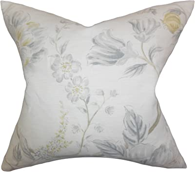 The Pillow Collection Amadea Floral Marine Down Filled Throw Pillow Home Kitchen