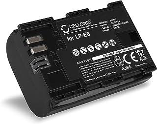 CELLONIC Batería Compatible con Canon EOS 5D Mark II III IV EOS 5DS R EOS 60D EOS 6D Mark II EOS 70D EOS 7D Mark II EOS 80DD EOS 90D EOS R RA WFT-E7 -E5 XC10 XC15 LP-E6 LP-E6N 2000mAh Pila Repuesto