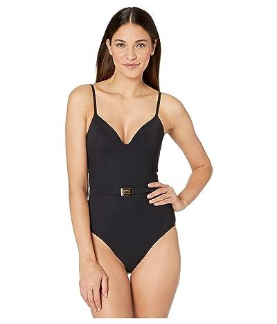 Tory Burch Swimwear T-Belt One-Piece (Black) Women