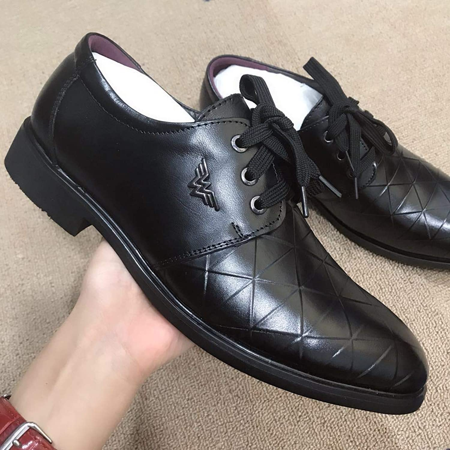 LOVDRAM Casual shoes Men'S Casual shoes New Pu Men'S shoes Business Casual shoes Men'S Head Layer Pu Pointed