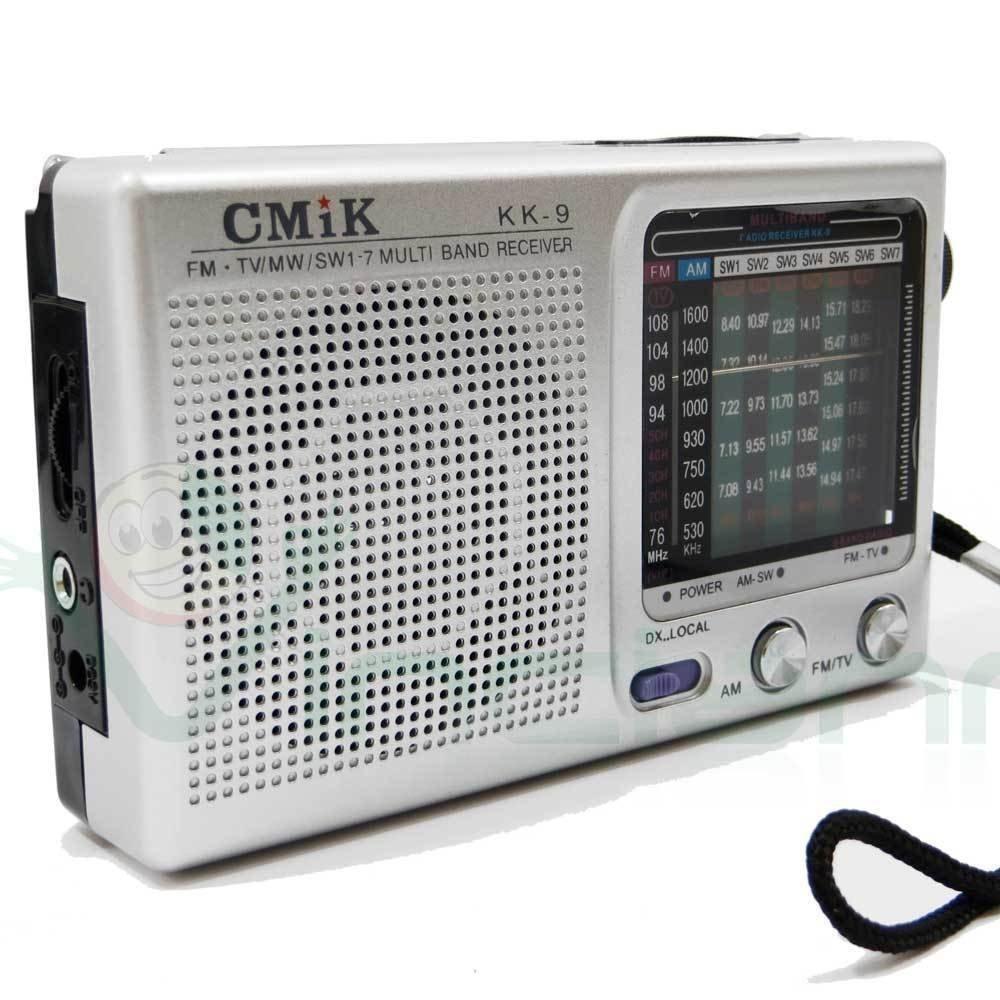 PLATA radio portátil de AM FM 7 bandas de frecuencia audio del televisor CMik KK-9: Amazon.es: Electrónica