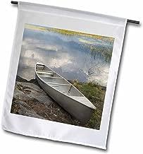 3dRose Canoe, Alder Creek, Rainy Lake, Voyageurs NP, MN - US24 RKL0064 - Raymond Klass - Garden Flag, 30cm by 46cm