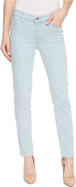 Hudson - Tally Mid-Rise Skinny Crop Jeans in Sage Extract
