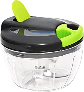 NAZAR Manual Chopper | Chops Vegetable, Onions | Chops Fruits & Nuts | Meat Mincer | Pull Cord | Medium - 520 ml