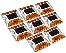 X-DREE 8pcs LED Solar Road Stud Light Marker Lighting Security Warning Lamp 6LED Yellow (70a73253-a222-11e9-8d7c-4cedfbbbd...