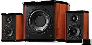 Swan Speakers - M50W - Powered 2.1 Bookshelf Speakers - HiFi Music Listening System - Wooden cabinet - Full Range Drivers - 6.5