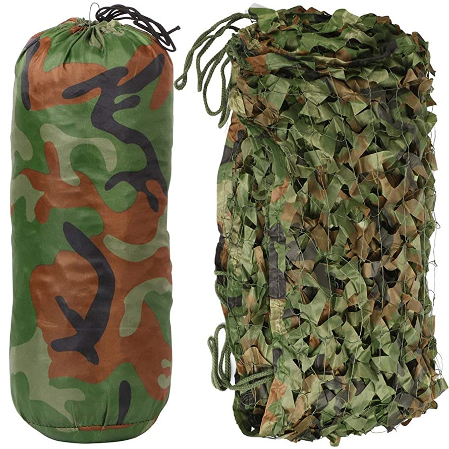 Universal Oxford Cloth Camouflage Net Portable Vehicle Protective Cover with Carry Bag Army Military Camo Net