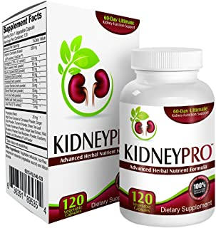 Sponsored Ad - Kidney-Pro: with 21 Kidney Health Supplements in 1 Formula (Total Kidney Support),120 capsules.