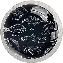 Lade Knoppen Ronde Kristal Glas Kast Handgrepen Pull 4 Pcs, voor Home Office Keuken Dressoir Garderobe Versieren