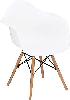 椅子 イームズチェア 肘付き デザイナーズ リプロダクト ホワイト PP-620