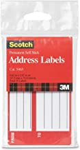 Scotch Brand 5465 Permanent Address Labels, 4.62 x 2.87 Inch,White,Pack of 25