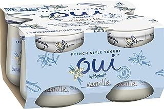 Oui by Yoplait French Style Yogurt, Non-GMO, Gluten Free Yogurt, Vanilla, 5.0 oz (4 Count)