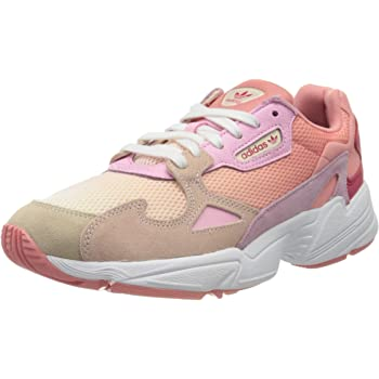 Amazon.com | adidas Originals Falcon W Trainers Women Pink ...