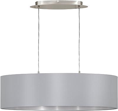 Éclairage Eglo Lampe Noir E27 Textile Suspension Or bfY7g6y