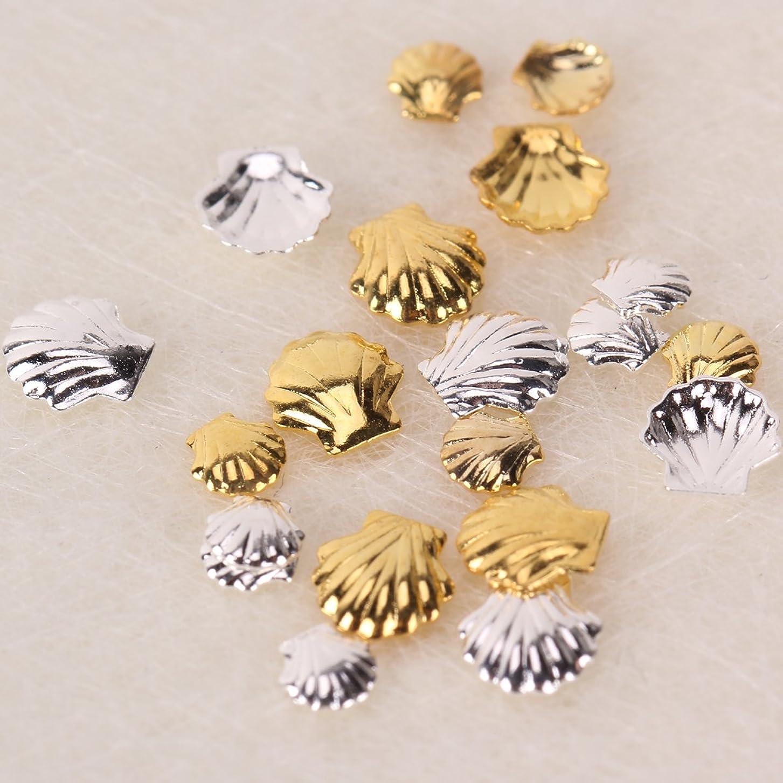 苦悩安らぎ擬人化ジェルネイル ネイルパーツ 貝 ネイルアートパーツ シェルパーツ 春ネイル 20個 貝殻型パーツ4種x各5