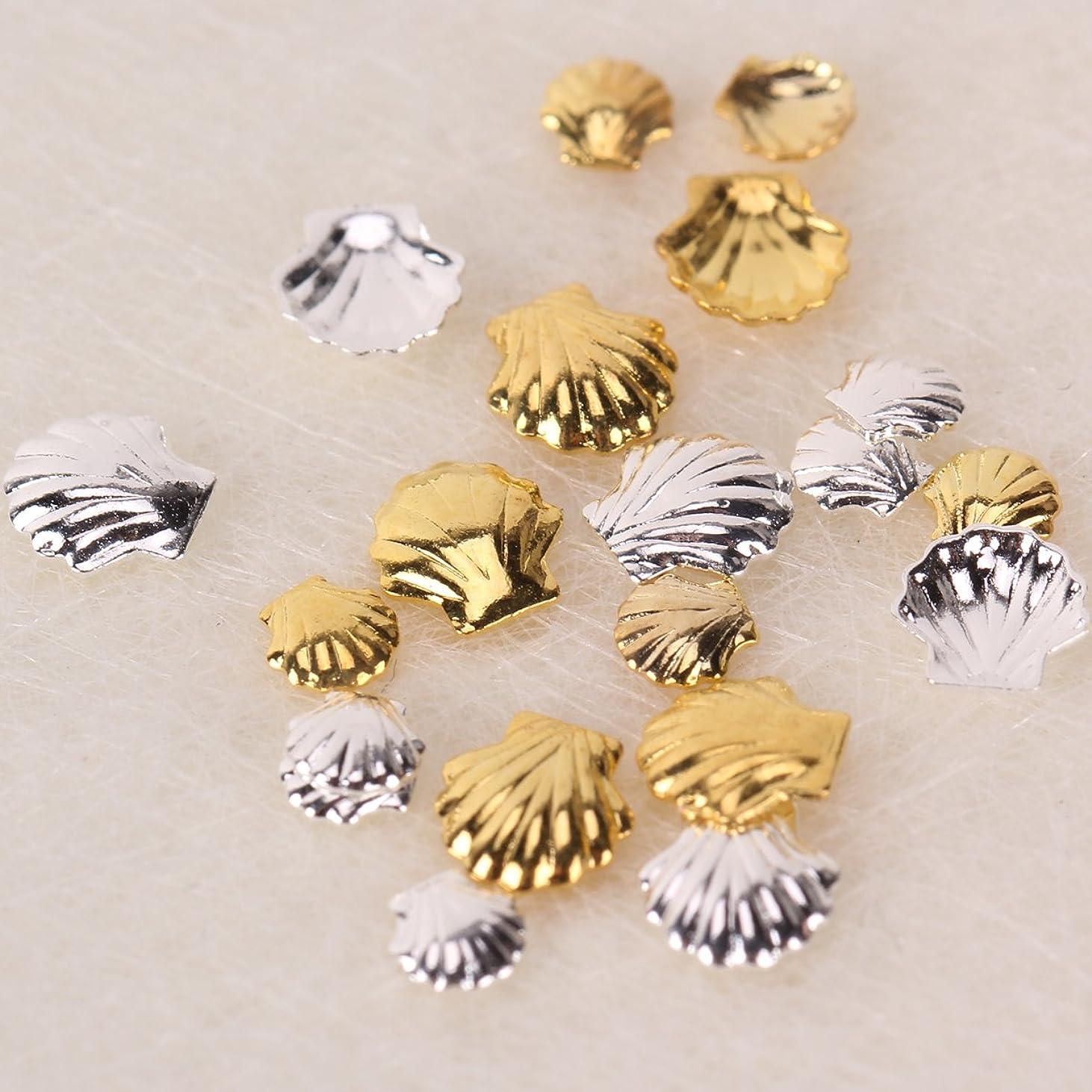 グッゲンハイム美術館ピクニック早熟ジェルネイル ネイルパーツ 貝 ネイルアートパーツ シェルパーツ 春ネイル 20個 貝殻型パーツ4種x各5