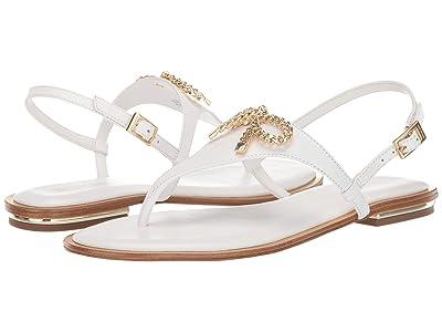 MICHAEL Michael Kors Posey Flat Sandal (Optic White) Women