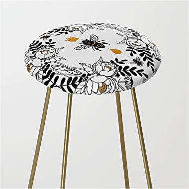 Society6 Queen Bee by Joanarosac on Kitchen Counter Stool - Gold
