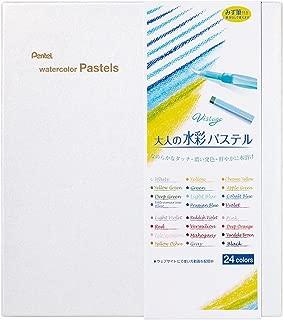 Pentel Watercolor Pastels Vistage 24 colors (with Brush) [GHW1-24] (Japan Import)
